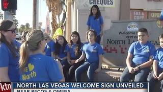 Welcome to North Las Vegas sign gets a makeover - Video