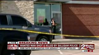 Wanted man shot & killed by Sallisaw police - Video