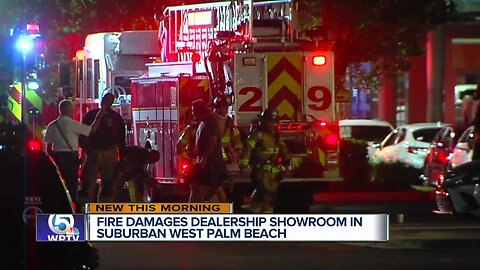 Fire damages Toyota dealership in Royal Palm Beach