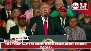 President Trump rally in Tampa part 2 - Video