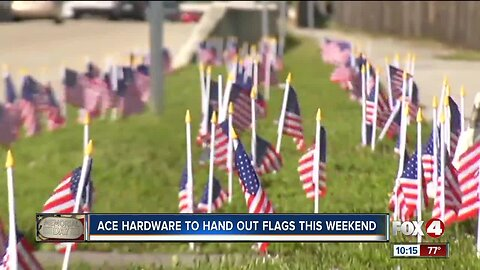 Hardware chain offering free American flags in Southwest Florida