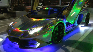 Insane $500,000 Holographic Lamborghini Aventador: RIDICULOUS RIDES - Video