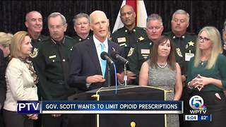 Governor Rick Scott stops at Palm Beach County Sheriff's Office to announce opioid proposal - Video