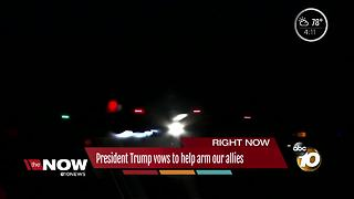 President Trump pledges to help arm our allies - Video