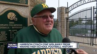 Harrison coach one win away from making high school football history - Video