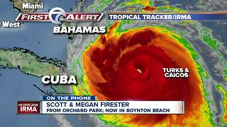 Orchard Park natives discuss bracing for Hurricane Irma in Florida - Video