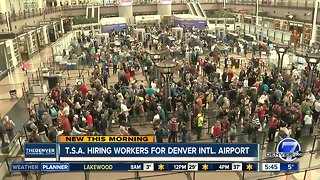 TSA hiring workers for Denver International Airport