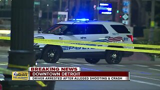Man hospitalized after alleged shooting near Comerica Park