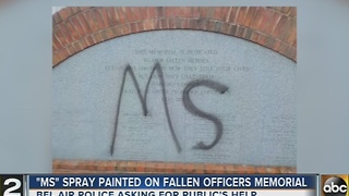 Vandals target Fallen Hero's Memorial in Bel Air - Video