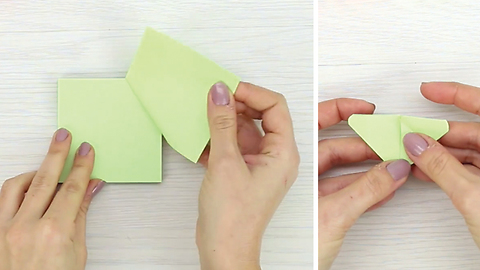 Fabuolus origami butterflies from sticky notes