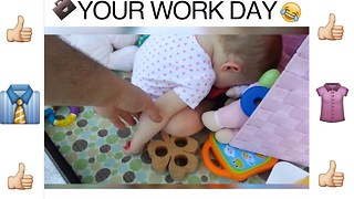 Babies Explain The 11 Stages of Your Work Day - Video
