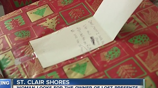 Woman hopes to return someone's missing gifts - Video