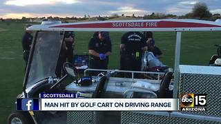 Man hit by golf car at Waste Management Phoenix Open - Video