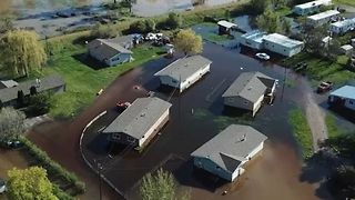 Drone Footage Captures Flooding in Missoula
