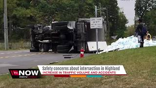 Safety concerns about intersection in Highland - Video
