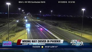 Wrong way driver stopped, arrested in Phoenix - Video