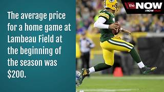 Green Bay Packers ticket prices drop after recent losses - Video