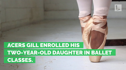 Dad Learns Tiny Daughter's Ballet Routine To Help Her Backstage When She Forgets