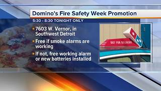 Domino's fire safety week promotion