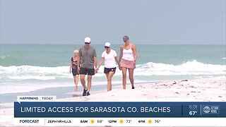 Sarasota County first in Tampa Bay area to reopen public beaches with limitations