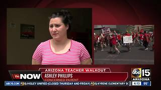 How families are dealing with school closures during teacher walkout - Video
