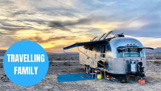 Couple and their kids have travelled more than 100,000 miles in a trailer on three-year US roadtrip - Video