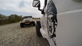 GoPro Video of Driving in a River Valley in Oman After Heavy Rain - Video