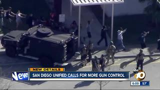 San Diego Unified calls for more gun control - Video