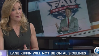 Lane Kiffin will not be on Alabama sidelines - Video