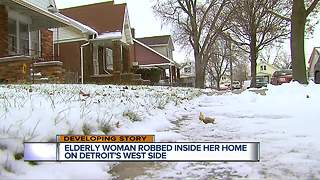 Elderly woman robbed inside her home on Detroit's west side - Video