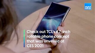 Check out TCL's 6.7-inch rollable phone concept that was unveiled at CES 2021