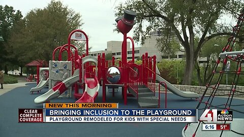 New inclusive playground at Children's Mercy is a 'game changer'