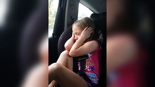 Little Girl Struggles To Think - Video