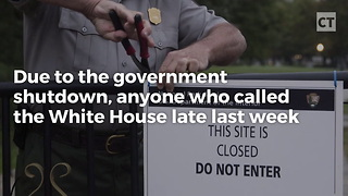 Wh Voicemail Called Out Democrats For Shutting Down Gov't - Video