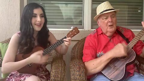 Grandfather & granddaughter perform beautiful ukulele cover