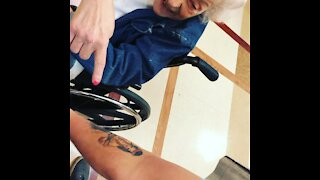 Great grandmom freaks out about tattoo