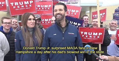 Donald Trump Jr. SURPRISES MAGA Fans A Day After New Hampshire Rally