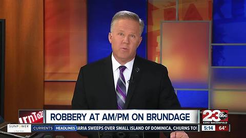 Armed robbery at AM/PM on Brundage Lane