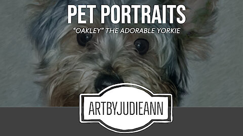 Painting Oakley The Cutest Yorkie