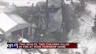 2 adults, 2 children dead in Rose Township mobile home fire - Video
