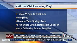 Wingtime offering free wings for National Chicken Wing Day - Video