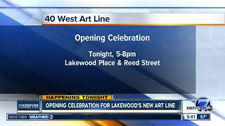 Opening celebration for Lakewood's new art line - Video