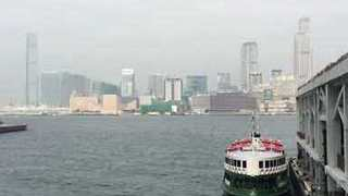 Smog Clouds Hong Kong's Victoria Harbour - Video