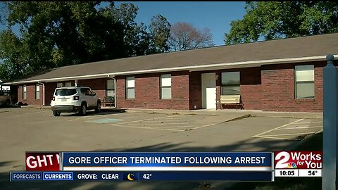 Gore officer terminated following arrest