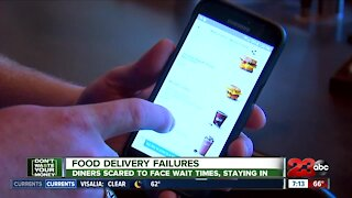 Food Delivery Failures: Diners scared to face wait times staying in