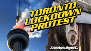 Toronto Lockdown Protest In Dundas Square with Kevin J Johnston