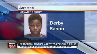 Mom accused of burning toddler with hot iron - Video