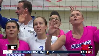 CSUB volleyball jump to 1st in WAC after win over Chicago St. - Video