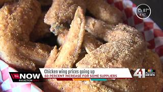 Chicken wing prices going up for some suppliers - Video