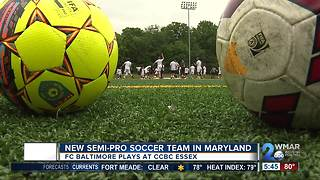 New semi-pro soccer team in Maryland - Video